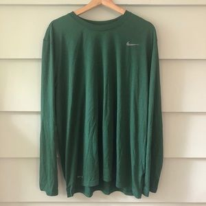 THe Nike Tee Long Sleeve Athletic Cut XL Dri Fit